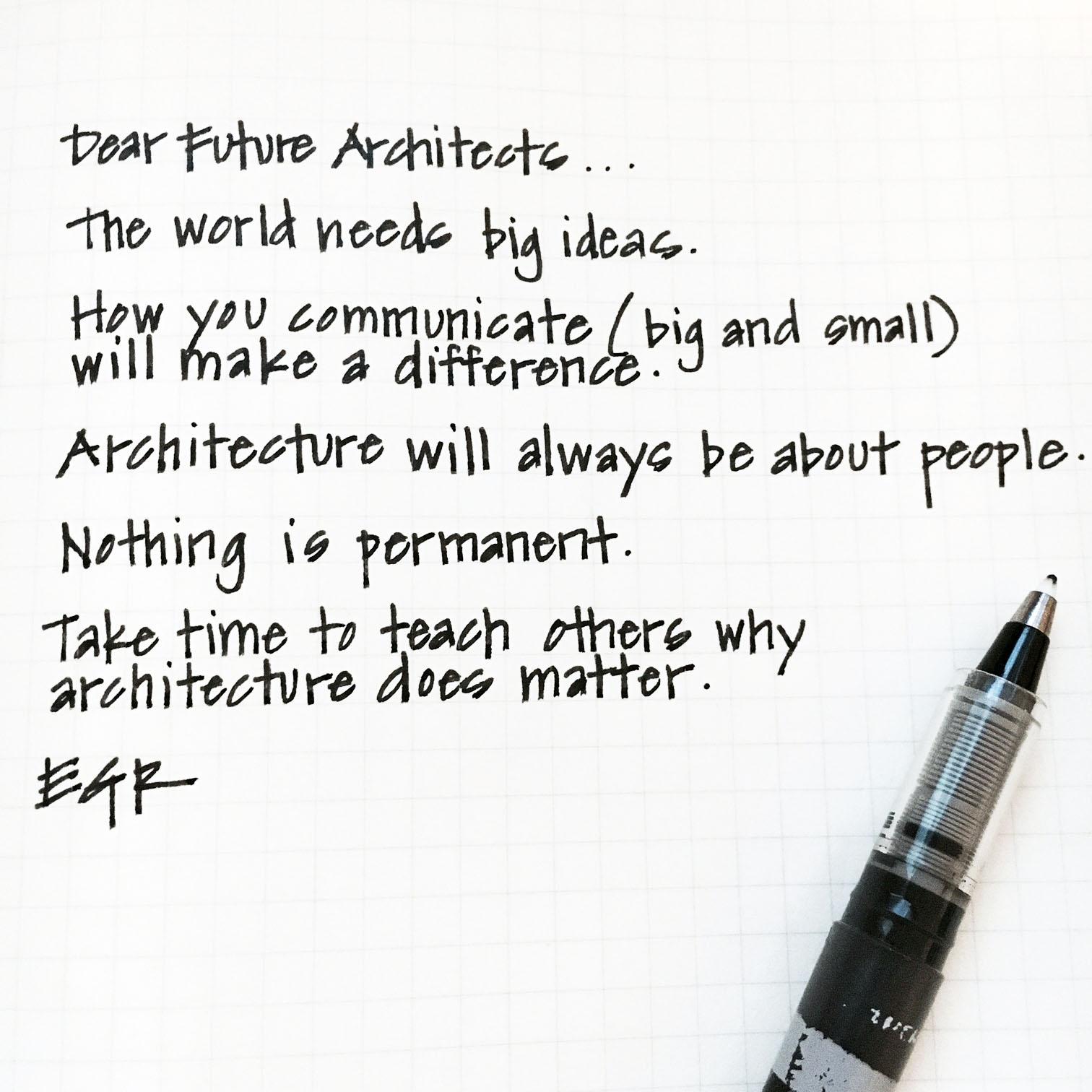 Dear Future Architects